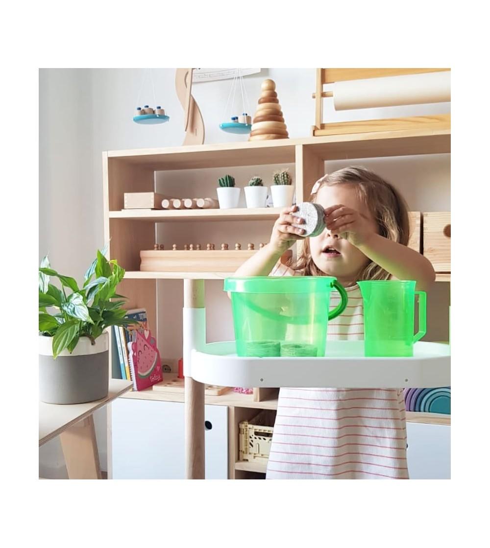 shelf with educational kit
