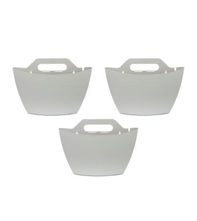 Confezione 3 vasi da parete