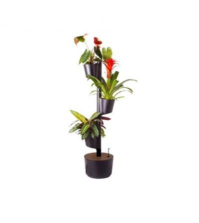 Vertikaler Blumentopf mit Wifi-Selbstbewässerung