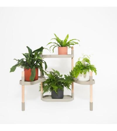 Prestatgeria per a plantes gris