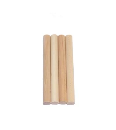 Confezione da 4 aste di legno