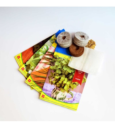 Kit de semillas aromáticas para 4 macetas