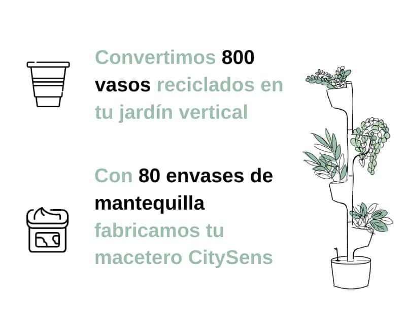 plástico reciclado CitySens
